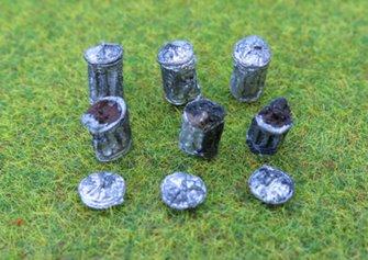 PDZ34 P&D Marsh OO Gauge Dustbins by 6