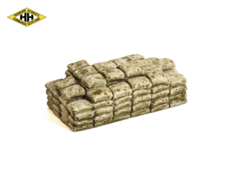 Layered Cement Bags (Brown)