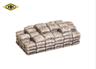 Layered Cement Bags (Grey)