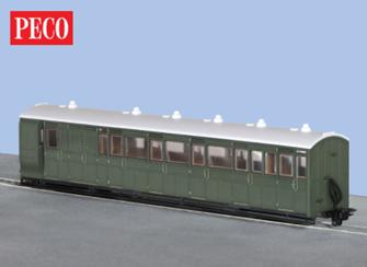 GR-421U 00-9 Brake Composite Coach Unlettered Green