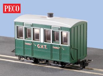 Peco GR-500 OO-9 Glyn Valley Tramway Coach Enclosed Sides