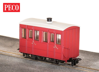 GR-500UR - GVT 4-wheel enclosed side coach - plain red
