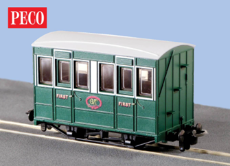 Peco GR-505 Talyllyn Coach With Buffers