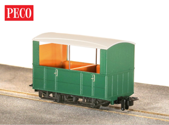 GR-520UG - GVT 4-wheel open side coach - plain green