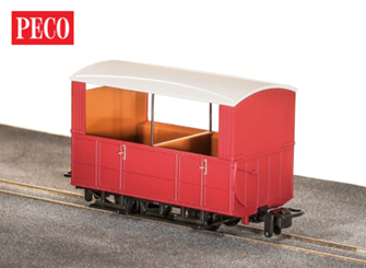 GR-520UR - GVT 4-wheel open side coach - plain red