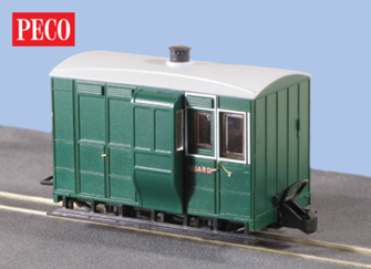 Peco GR-530 OO-9 Glyn Valley Tramway Freelance Break Coach