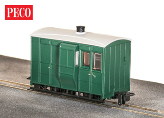 GR-500UG - GVT 4-wheel enclosed side coach - plain green