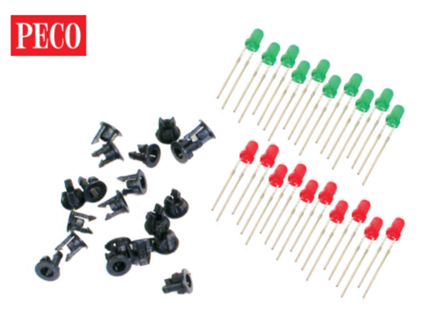 LED's (3mm, 10 Red & 10 Green)