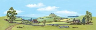 Country Seascape 228x736mm Manyways Scenic Background