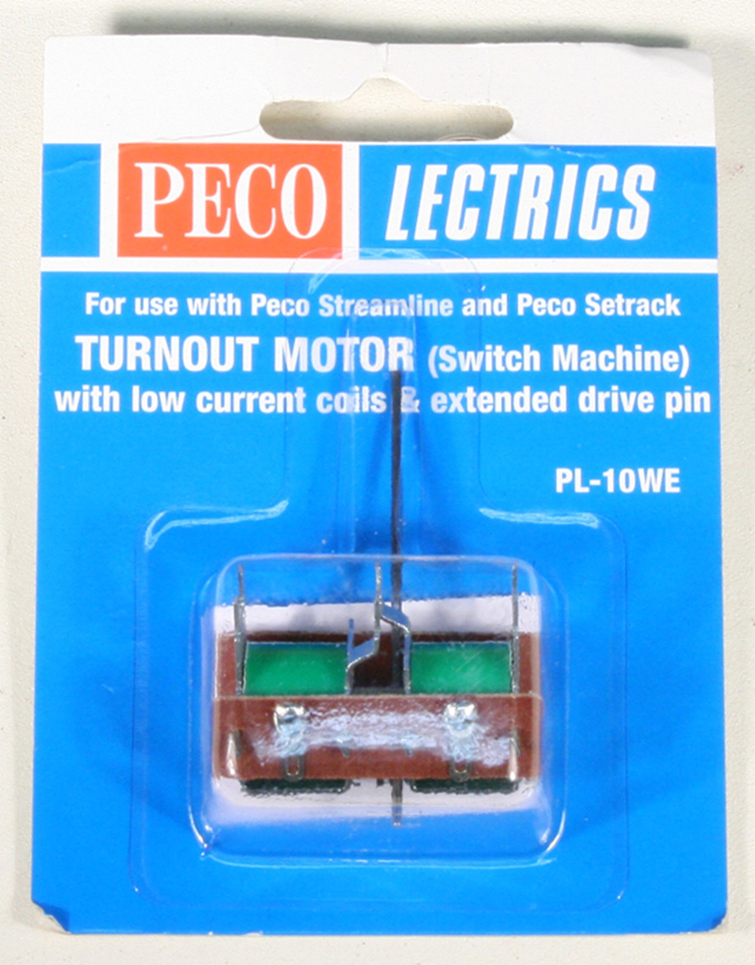 Turnout motor, low current, extended pin