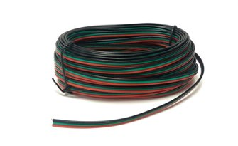 Point Motor Wire (Red/Green/Black) 10m Tripled (14 x 0.15)