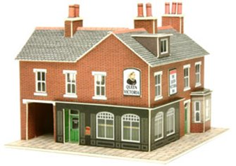 Red Brick Corner Shops Kit
