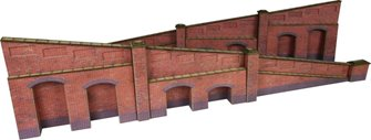 Metcalfe Tapered Retaining Walls - Brick Style OO/HO