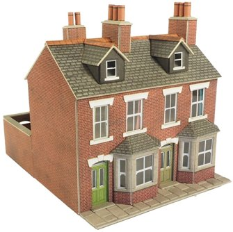 Terraced Houses in Red Brick Building Kit
