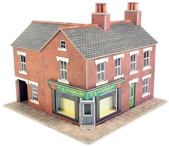 Corner Shop Red Brick Building Kit