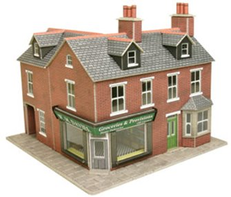 Corner Shop Red Brick Building Kit
