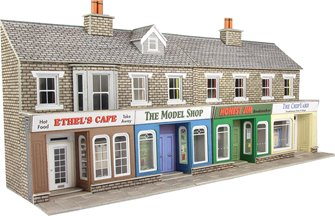 Low Relief Terraced Shop Fronts - Stone Kit