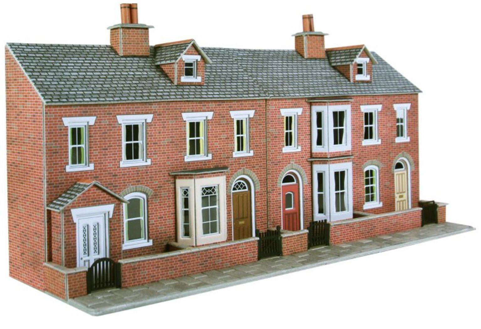 Low Relief Terraced House Fronts - Brick
