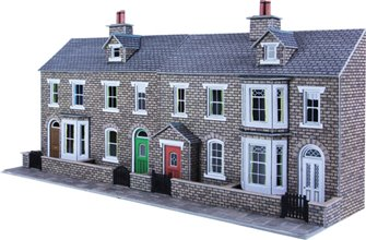 Low Relief Terraced House Fronts - Stone