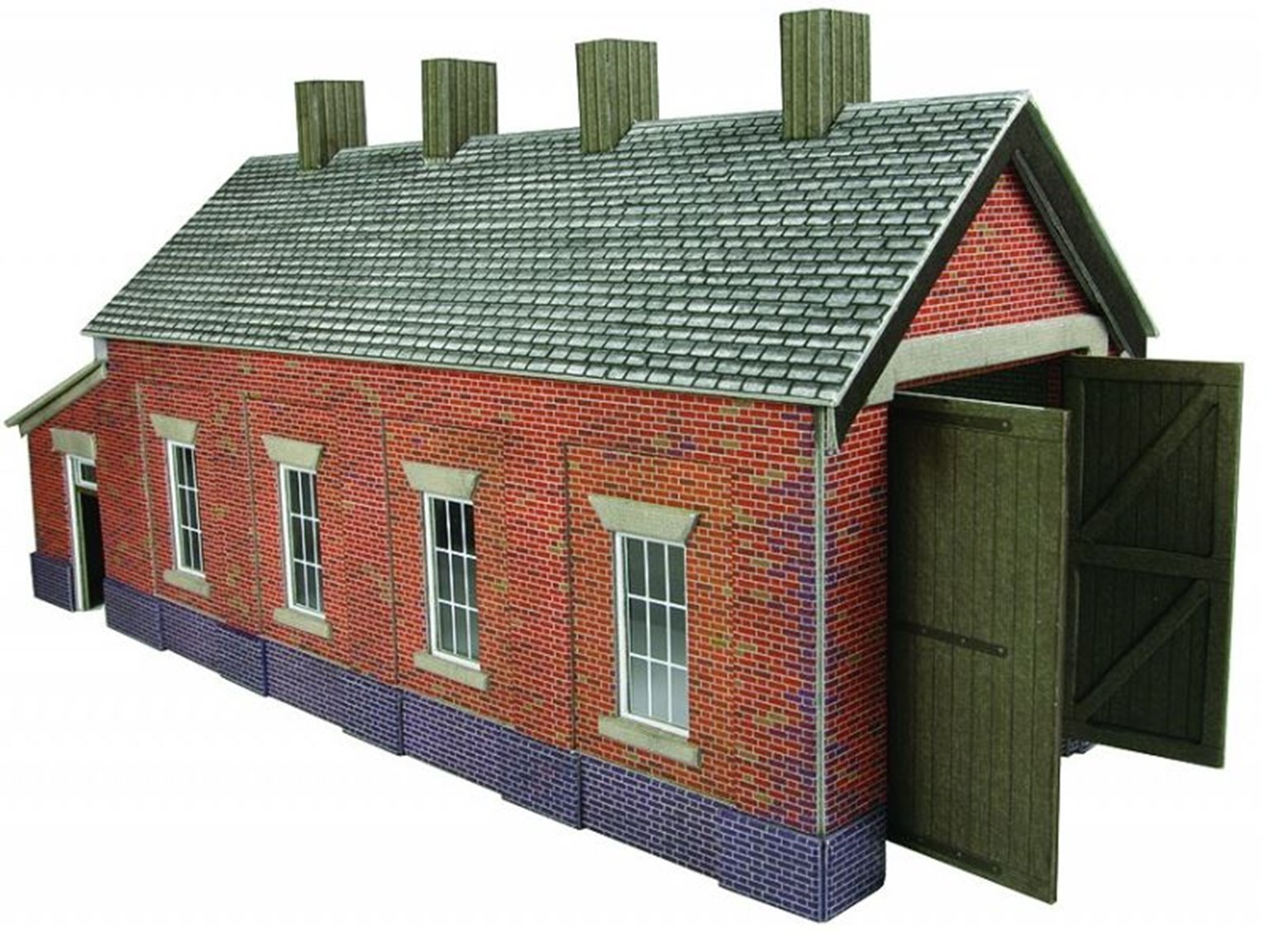 Single Track Engine Shed - Red Brick