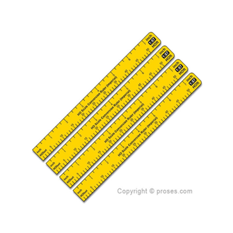 1:87 Scale Conversion Ruler (Imperial) H0