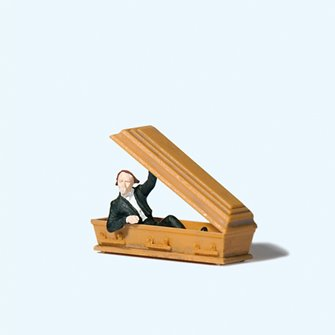 Vampire Holding Coffin Lid Figure