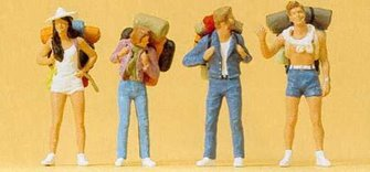 Preiser 65315 Hitchhikers (4) Figure Set