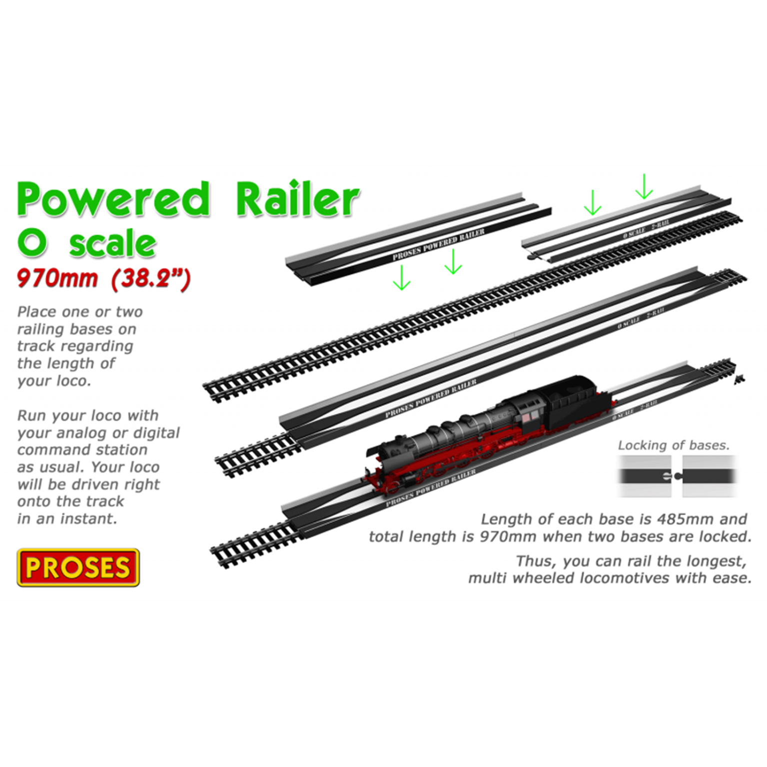 O Gauge Powered Railer For Locos, Coaches and Wagons