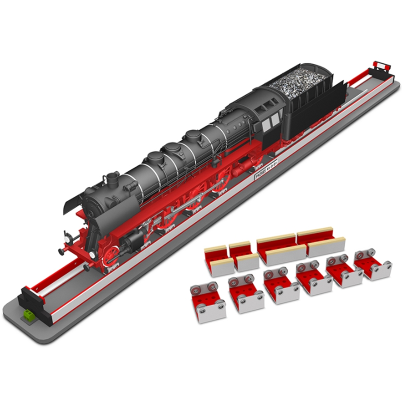 Rolling Road Stand with 6 rollers and 4 cleaners