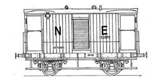 Parkside Dundas PS115 LNER 20 Ton Goods Brake Van Toad B 34