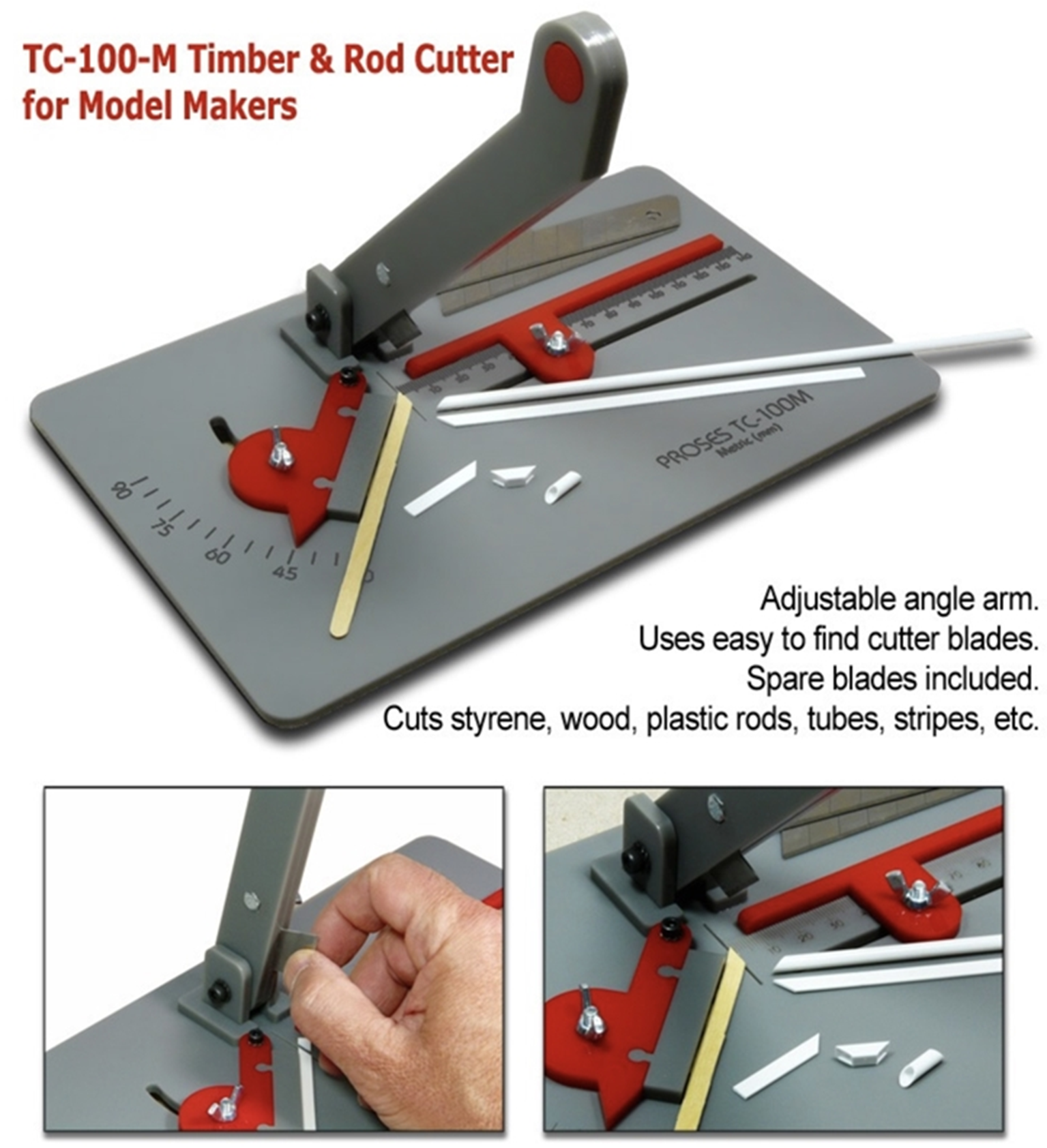 Timber & Rod Cutter for Model Makers