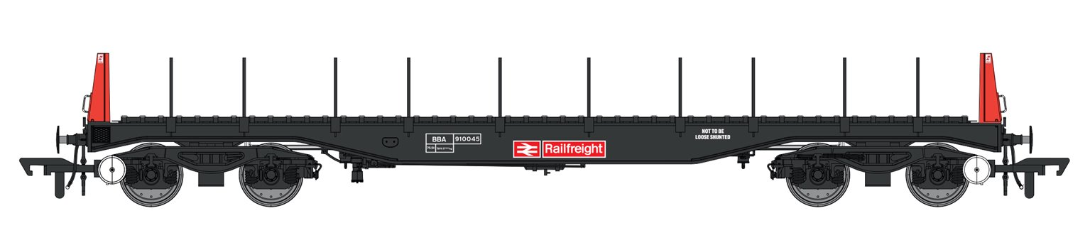 Set of 3 Railfreight BBA Bogie Steel Wagons