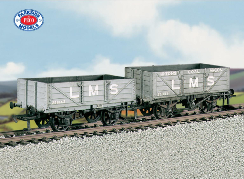 LMS Traffic Coal/4 Plank Wagons (M/W, B/B)