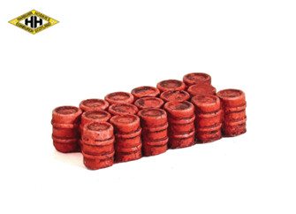 Oil/Chemical Drums (Grouped) - Red