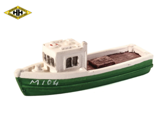 Harburn Hamlet HN652 Fishing Boat green/white