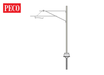 Catenary system mast with push on/push off hangers