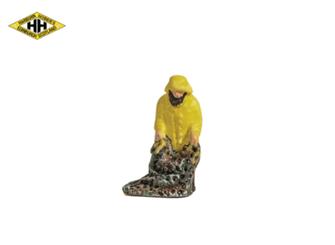 Fisherman in Yellow Oilskins