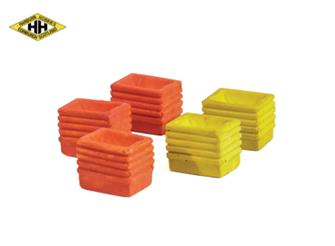 Plastic Fish boxes, asstd colours (5)