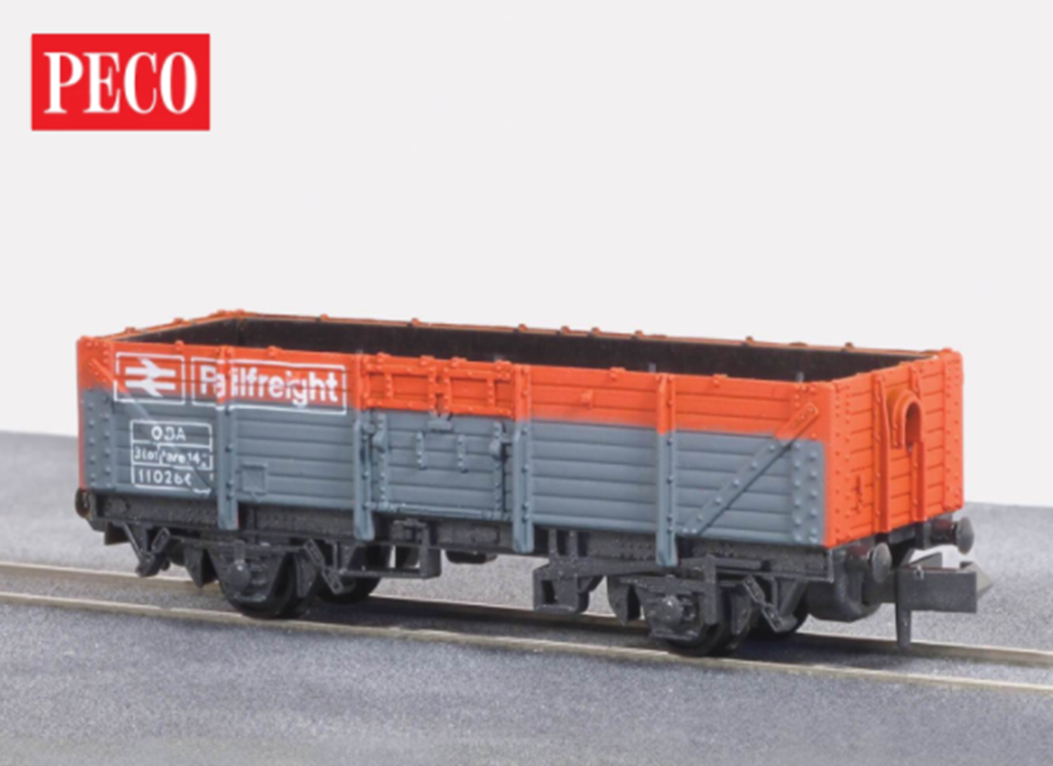 Railfreight Open Wagon, BR red/grey, 15ft Wheelbase