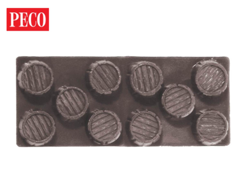 Barrels, dark brown Wagon Load (Pack of 4)