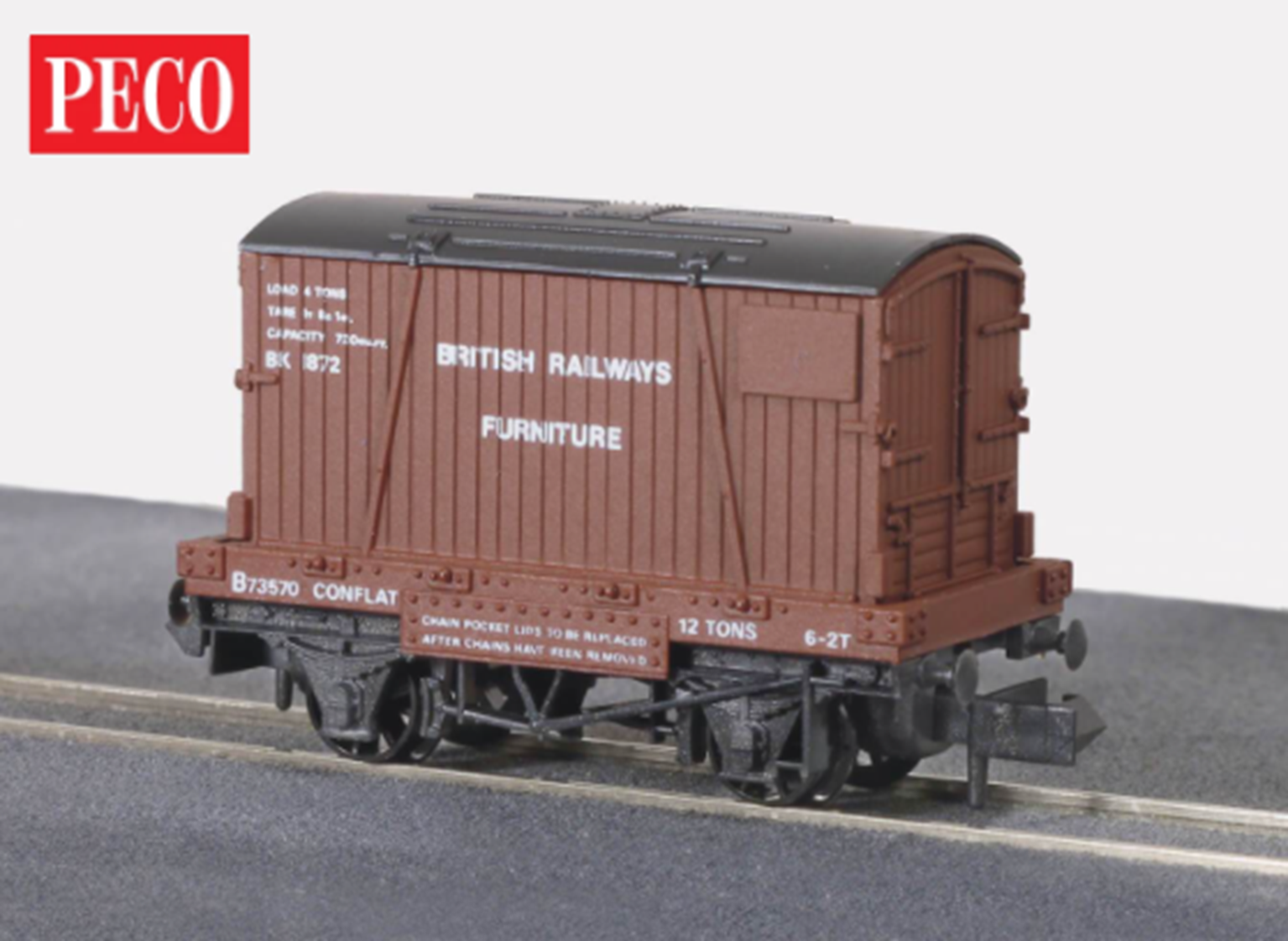 BR Furniture Removals Conflat Wagon with Container