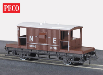 Brake Van, NE bauxite, 15ft Wheelbase