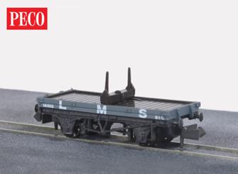NR39M Bolster Wagons LMS, bauxite