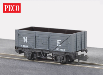 NR41E 7 Plank Coal Wagon, LNER Grey