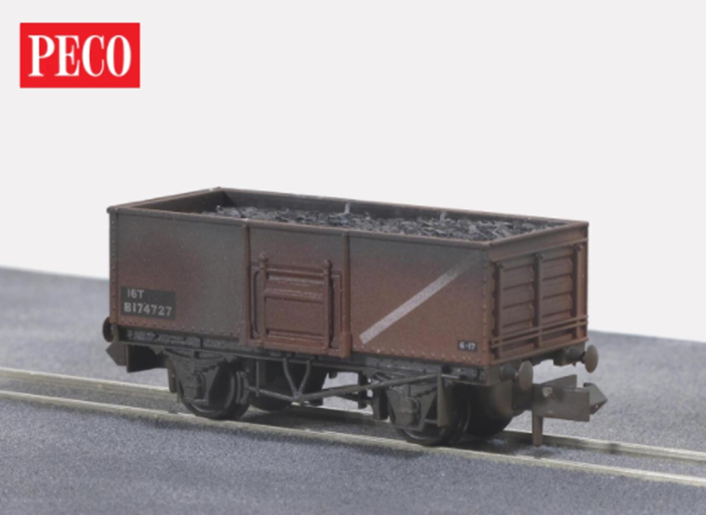BR Butterley steel coal wagon in Bauxite (Weathered)