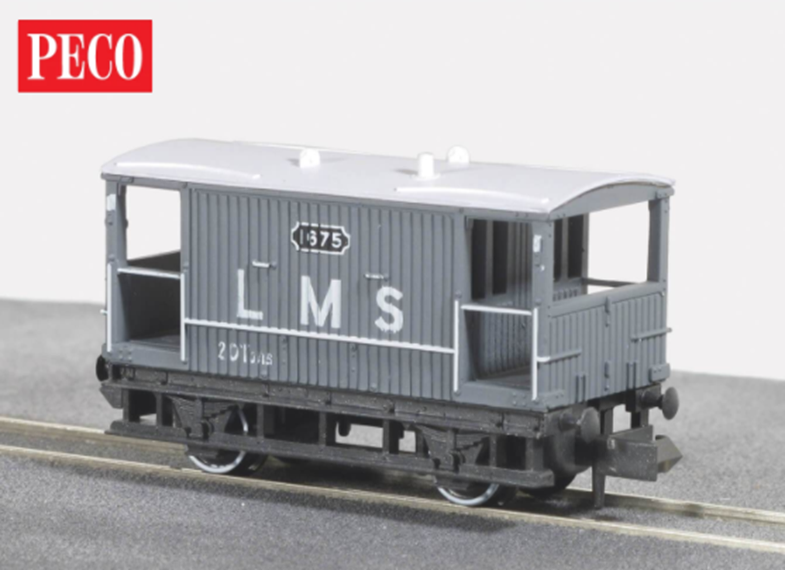 Brake Van, LMS light grey