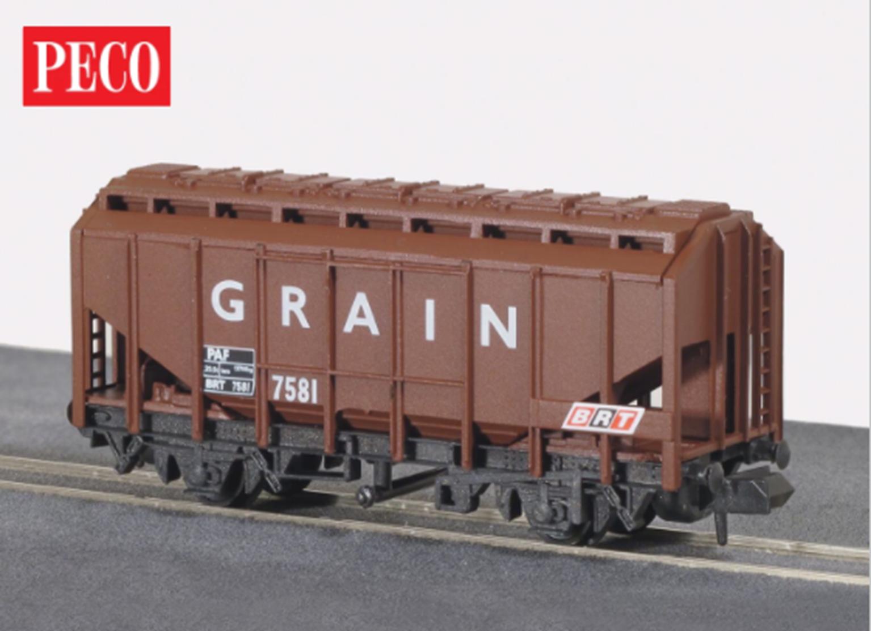 Brown Grain Wagon
