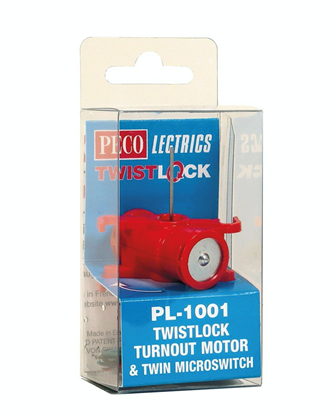 Pecolectrics Twistlock Turnout Motor w/Microswitch