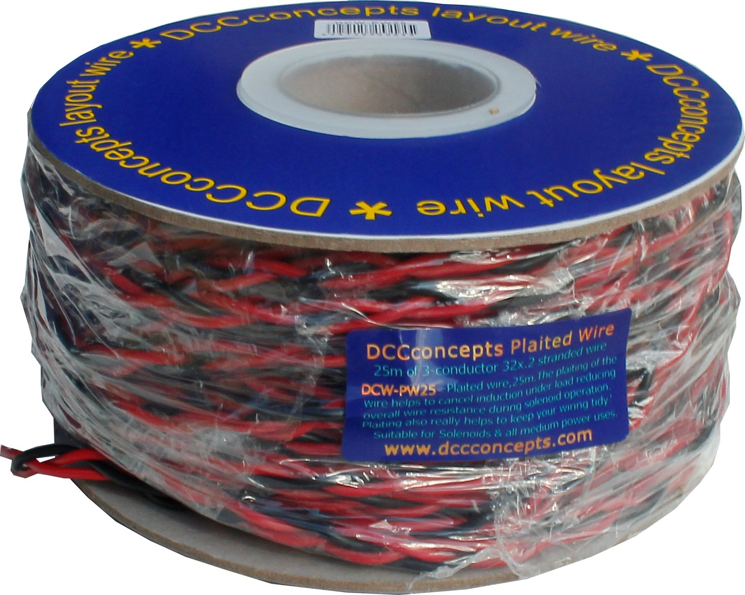 Solenoid Connection Wire 3-Plait Red/Black/Red