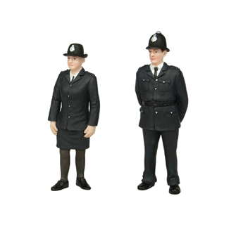 bachmann g scale Policeman and Policewoman